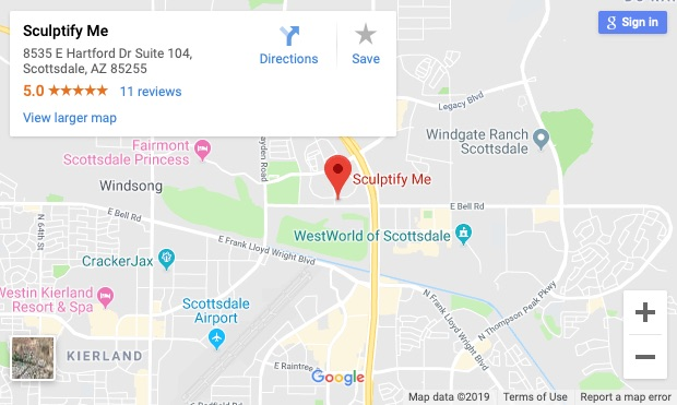 Sculptify Me Map Scottsdale AZ